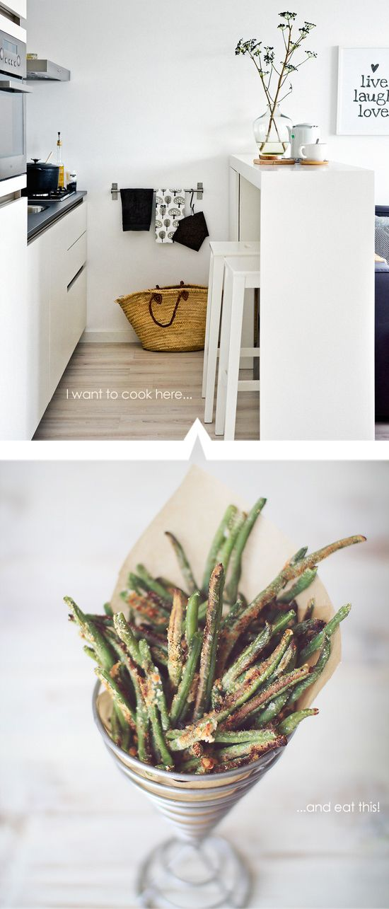 Crispy Baked Parmesan Green Bean Fries | Good Eats | Pinterest