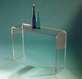 Latest Ideas Acrylic Side Table : Acrylic entryway table  NEW HOUSE  Pinterest