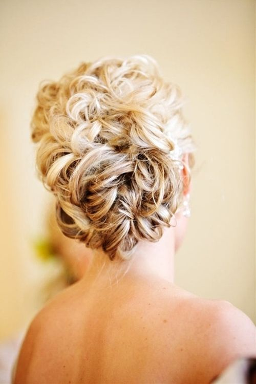 Wedding Wavy Updo Hairstyle