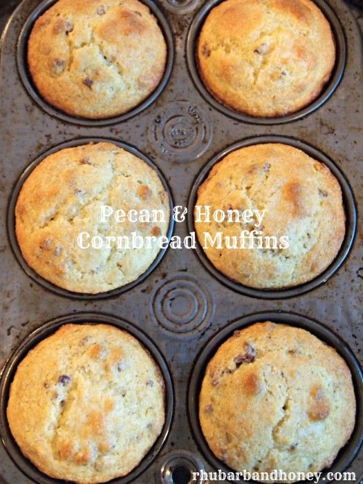 Pecan and Honey Cornbread Muffins