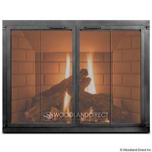 Modern Studio Bi Fold Fireplace Door