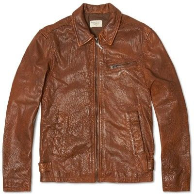 Nudie Ervin 50s Leather Jacket Cognac | Mens fashion /casual wear | P