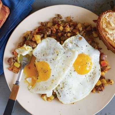 Fancy Sweet Sausage-and-Apple Hash with Calvados | Recipe