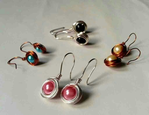 wire wrapped earrings tutorial jewelry creations