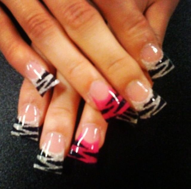 Instagram photo of flared acrylic nails by renee david for Acrylic nails at salon