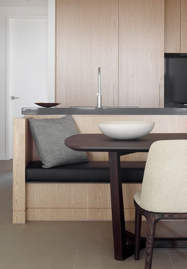apartment kitchen bench seat island ef fixed pinterest