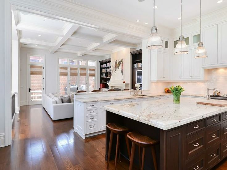 White + Chocolate Brown Kitchen  Interior Design  Pinterest