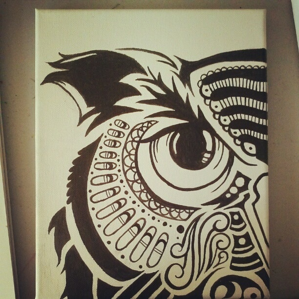 Owl Drawing Pinterest