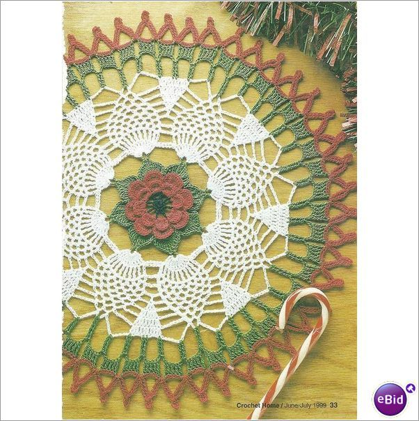 Crochet Doily Pattern Anemone Doily on eBid New Zealand