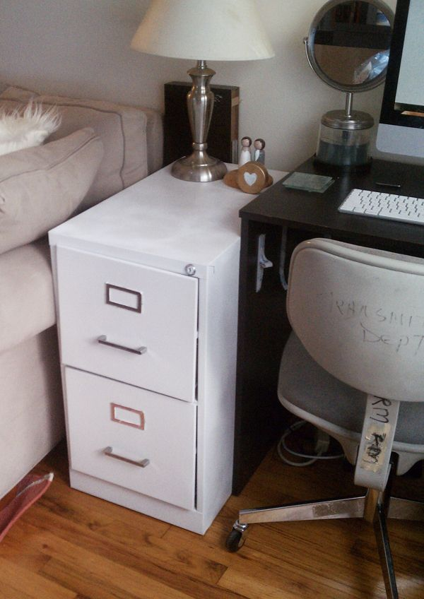 how to paint a metal file cabinetposted on august 2 2012 by justine. Black Bedroom Furniture Sets. Home Design Ideas