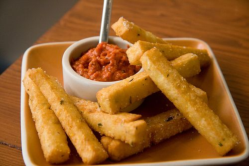 Chickpea fries with romesco | Stuff I eat | Pinterest