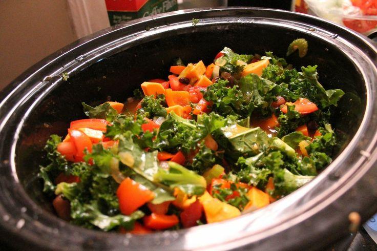 Kale, Sweet Potato & Black Bean Soup