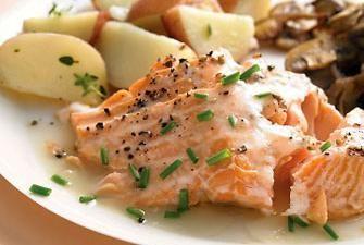 Roasted Salmon With White Wine Sauce Recipe | RECIPE CORNER