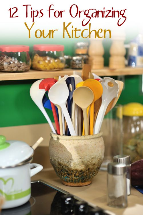 12 Easy Organizational Tips for Your Kitchen. Some great ideas that you can implement yourself or have a handyman do!   organize | organizing | organizational tips | kitchen organization | kitchen diy