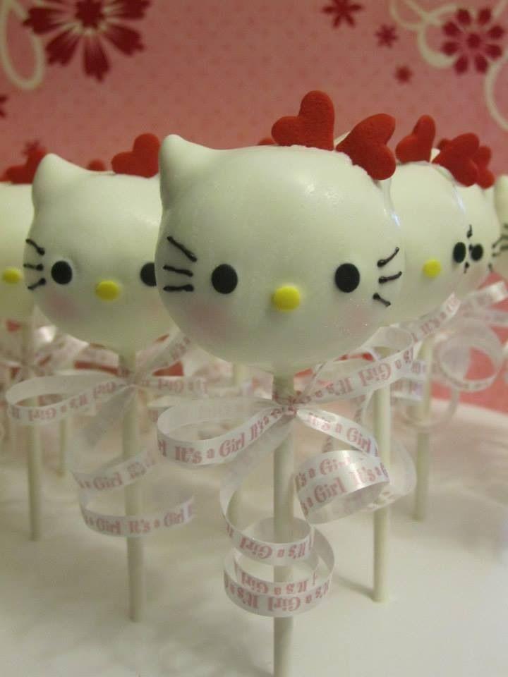hello kitty cake pops baby shower cupcakes mini