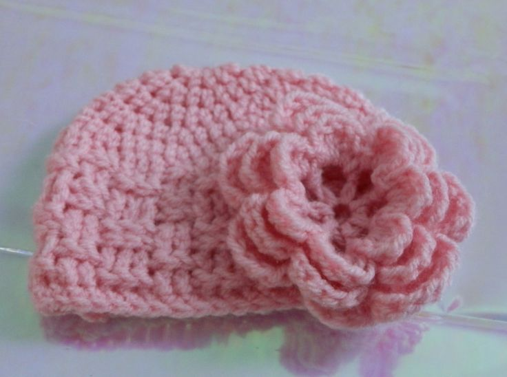 Easy Crochet Pattern-Baby Hat crochet Pinterest