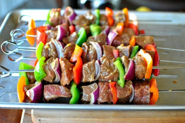 Simply Scratch » Grilled Marinated Steak Kebabs