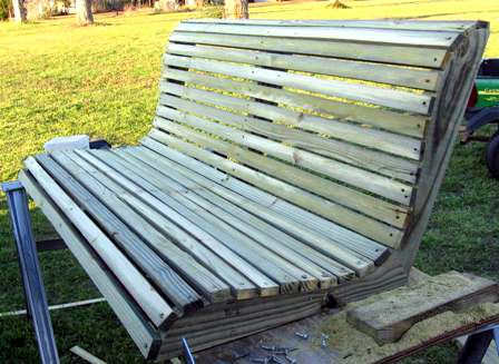 How to build a porch swing for Bench swing frame plans