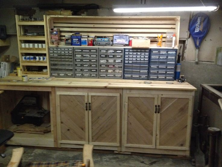 Garage cabinets made of used pallets stuff i have built - Cabinets made from pallets ...