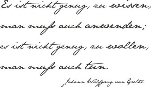 Goethe Zitat  Speak.  Pinterest