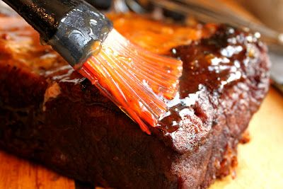 Feast for the Eyes: Braised Brisket with Bourbon-Peach Glaze