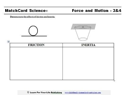 Friction Worksheet | CC- cycle 2 | Pinterest