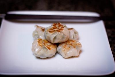Homemade shrimp & chive dumplings | main dish | Pinterest