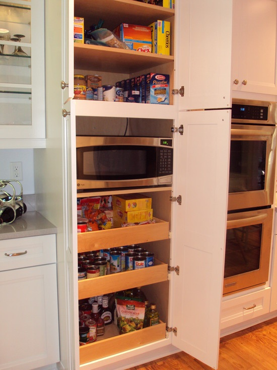 Microwave in small pantry kitchen ideas pinterest for Kitchen designs microwave