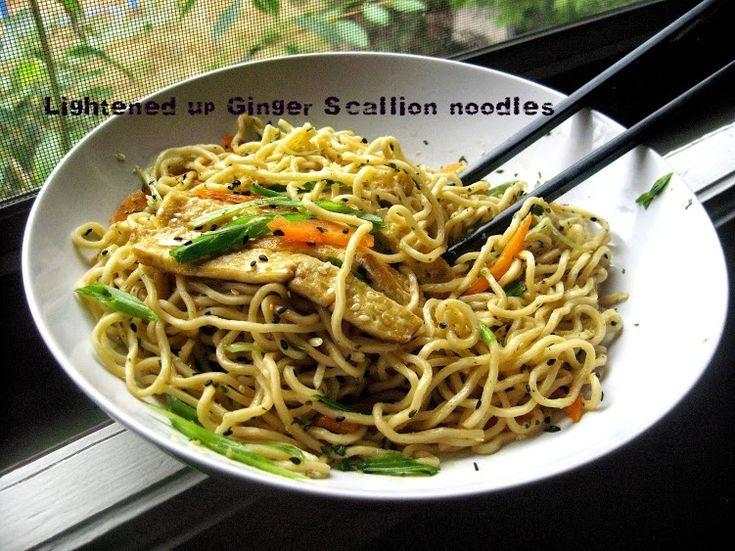 Scallion ginger noodles - lollipopsicle | Asian Cuisine | Pinterest