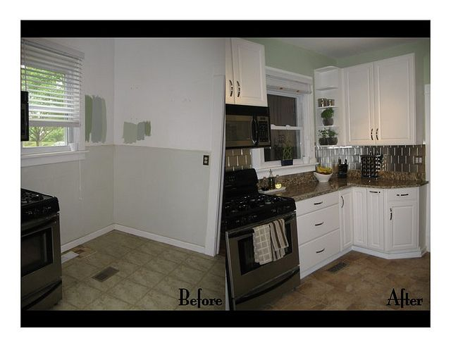 Kitchen remodel before and after home goods pinterest - Kitchen remodel before after ...