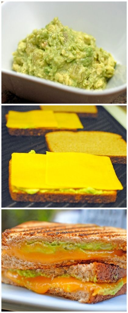 Guacamole Grilled Cheeses