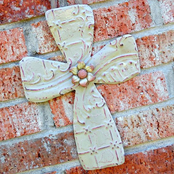 vintage ceiling tin wall cross