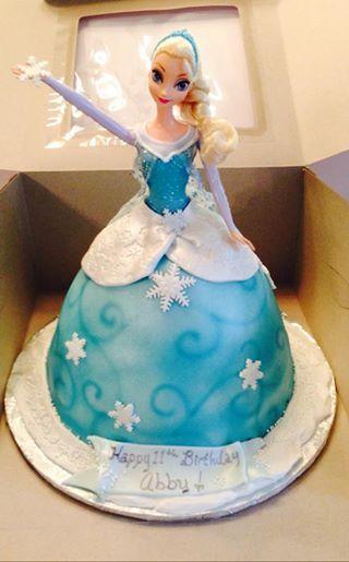 Elsa doll cake Disney Frozen  Tays 4th bday  Pinterest