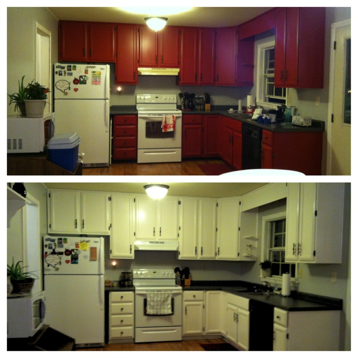 Painted kitchen cabinet makeover!  Rooms  Pinterest