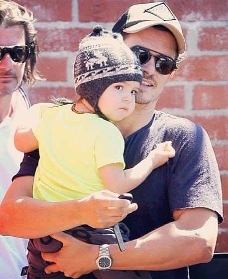 Orlando Bloom and son Flynn | A Miracle named Children | Pinterest