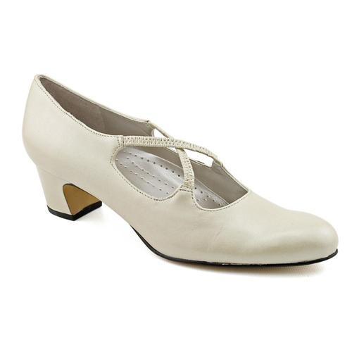 Womens Size 10 5 Ivory x Narrow Leather Mary Janes Heels Shoes | eBay