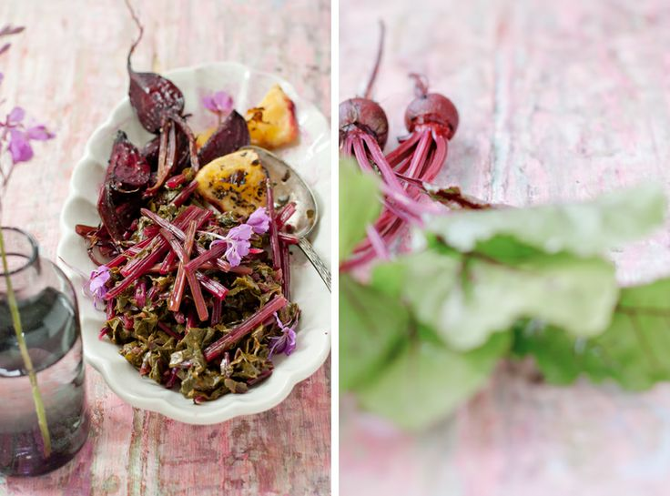 Beets & Greens: Roasted Beets, and Warm Salad with Beet Greens