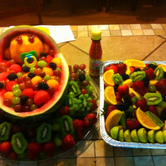 baby shower fruit tray fruit trays pinterest