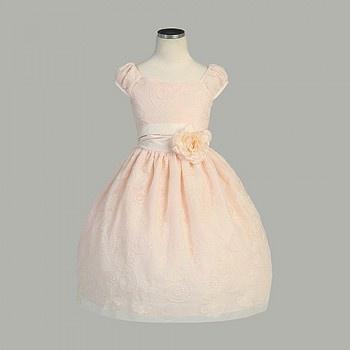 Sweet Kids Baby Toddler Little Girls Peach Blossom Easter Dress 6M-12