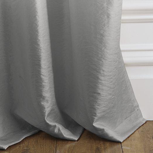 Soho Silk Curtain – Pewter | West Elm | living room | Pinterest