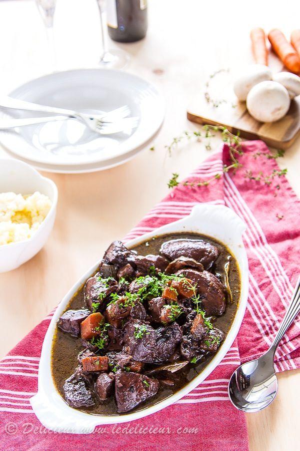 Mushroom Bourguignon - a delicious vegetarian winter recipe.