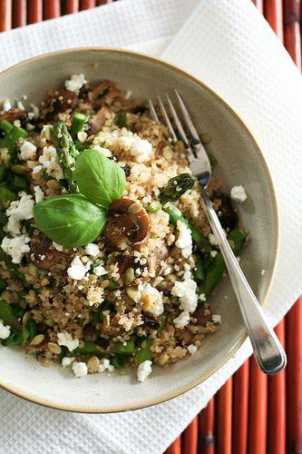 Mushroom & Asparagus Warm Quinoa - just estimate the volume of ...