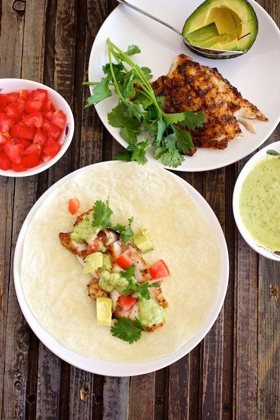 Grilled Fish Tacos with Avocado Salsa | Coastal Grub | Pinterest