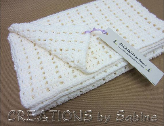 Crochet Lap Blanket : Baby Crochet Afghan Lap Blanket Throw 30x37 by CREATIONSbySabine, $26 ...