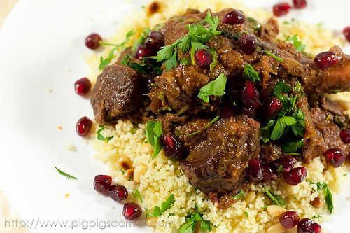 Pomegranate and date lamb tagine 5 by pigpigscorner, via Flickr