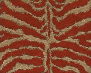 Tiger Red Animal Print Red Gold Chenille Tapestry Heavy
