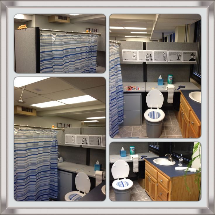 Office Pranks--Bathroom Cubicle | Pranks | Pinterest
