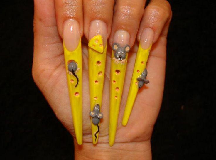 Дизайн ногтей сыр