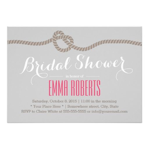 Tying the Knot Bridal Shower Invitations