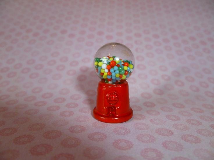 Miniature Gumball Machine. $5.00, via Etsy.